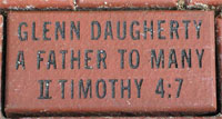 Engraved Brick Example